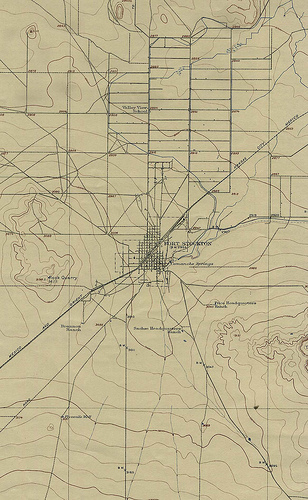 Fort Stockton, Texas: About as exciting as this map implies