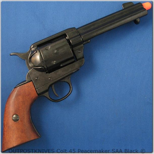 no twirling it like a cowboy, either. PS feds, this is a stock photo of a fake gun, so don't arrest us for thoughtcrime