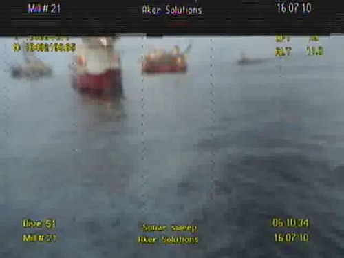 ROV BP Deepwater Horizon Propelled To Surface After Cap Blows Photo By Gaspo Story By Summer Burkes