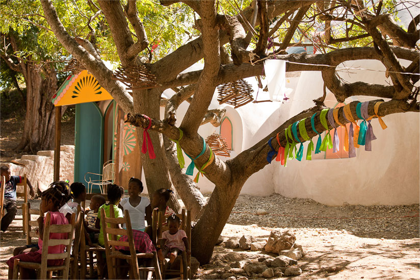 Swoon and crew's Konbit shelters in Haiti -- functional, beautiful, revolutionary