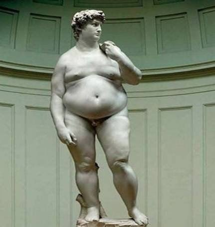 """Fat David"" by Hans Arthur Schmidt ... wonder if he's hungry"