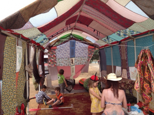 Later on into the summer, at Lake Lodoga in central northern California, we debuted the remix of our 'bohemian tent' at Camp Tipsy 2013. Last year was our first; this year topped it. Making boats out of junk and helping / watching people nail, tie, and screw stupid items together to see if they'll float? Sold.