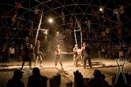 next year we're hoping for a BLM vs. Rangers round at Friends and Family Nite in Thunderdome. Photo by Gabe Kirchheimer