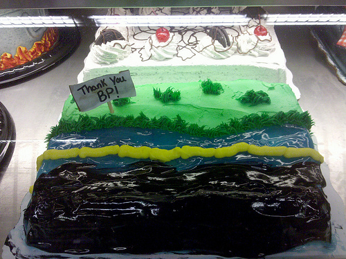 even our cake is fracked