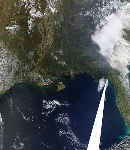 Space photo from NASA, March 20, 2011. spot the point of origin.