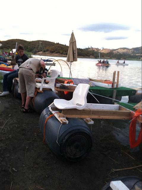 Junk boats at Chicken John's Camp Tipsy 2012