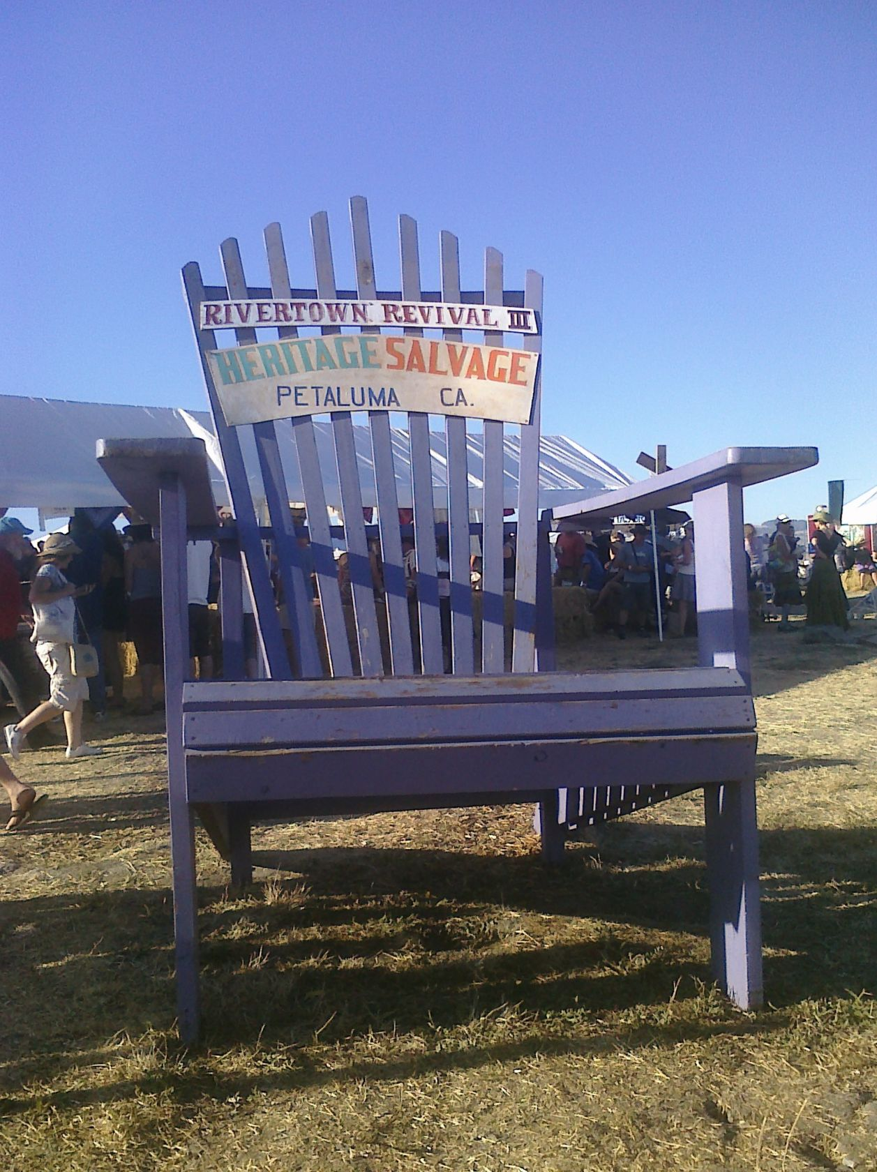 Rocking chair at Petaluma Rivertown Revival 2012. Photo by Summer Burkes