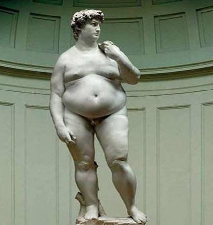 """Fat David"" by Hans Arthur Schmidt ... wonder if he's hungry"