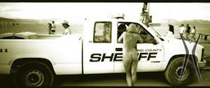 Cop whisperer? (1997, photo by Lenny Jones)