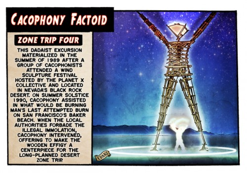 art by Kevin Evans from Tales of the SF Cacophony Society