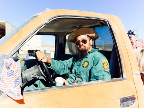 Railroad Mike: fuel truck driver; coffee drinker; knower of things about trucks, buses, & trains
