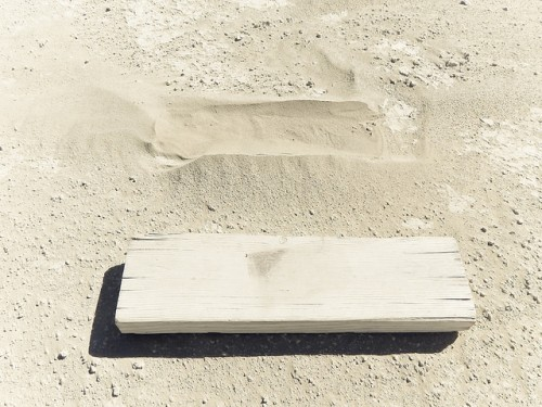 tiny dustpiles collect around every left-behind item