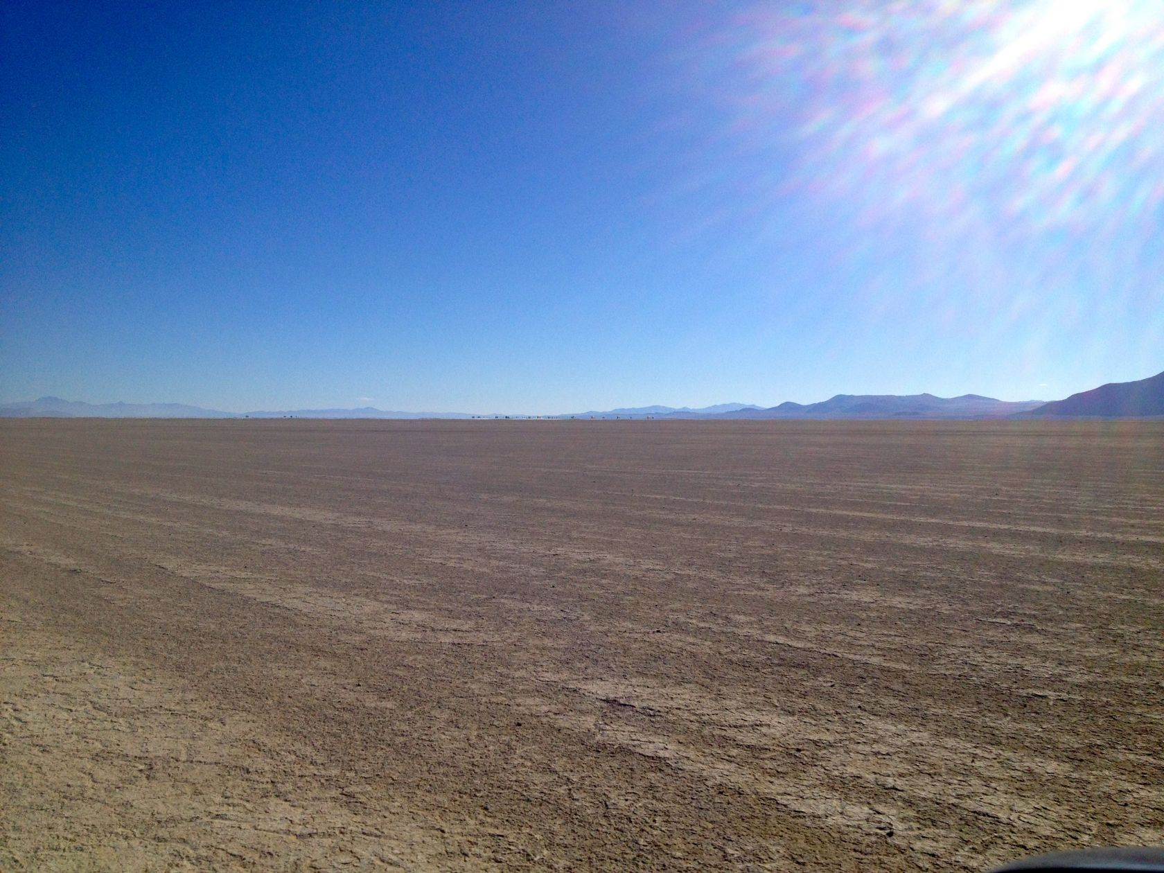 Can you spot the 120-person Line Sweep and fleet vehicles on the distant horizon?