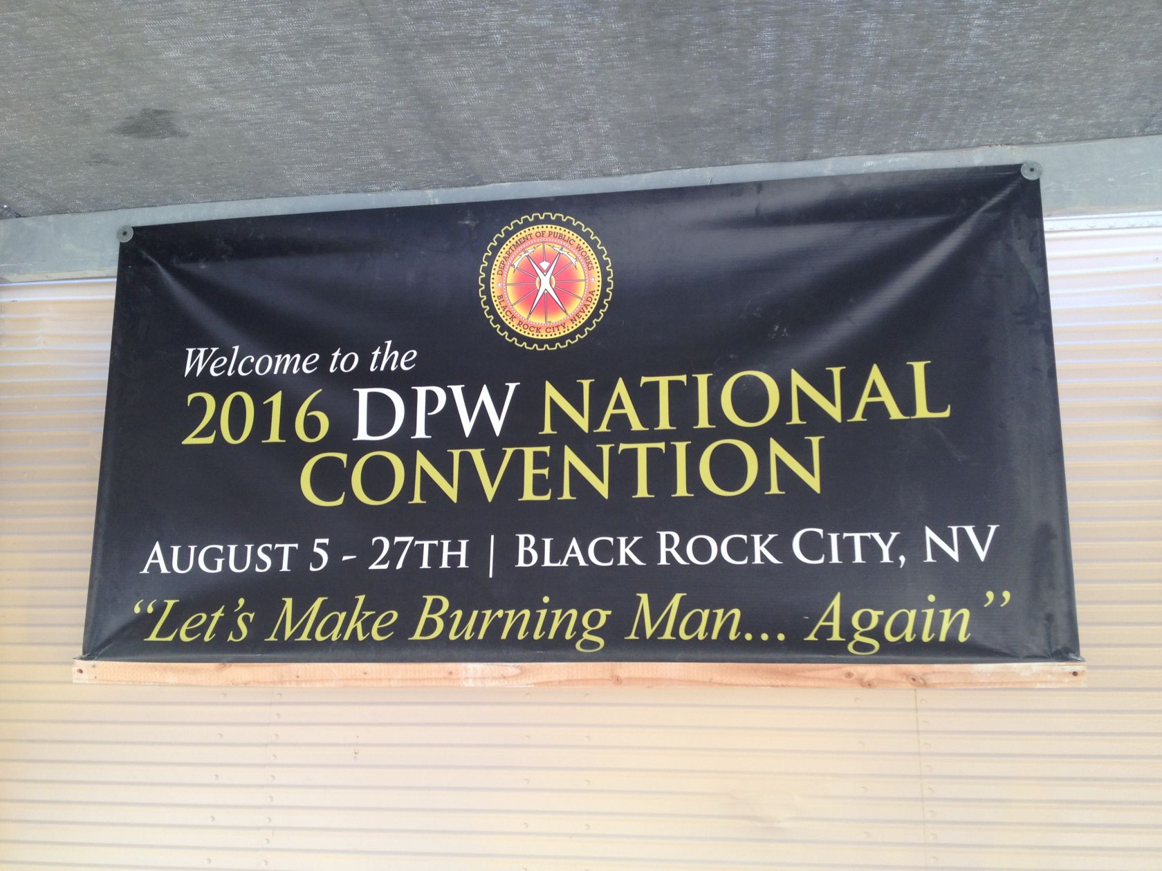 Depot manager Alipato had this banner made to troll everyone in the DPW during our morning meetings